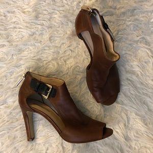 Louise et Cie Olivie cutout peep toe bootie shoes